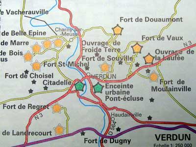 French Battlefields :: Battlefields of France :: Verdun Map