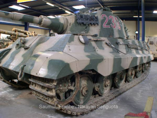 Tiger Tank, King Tiger Tank, Saumur M24 Tank